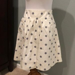 Ivory and grey Jcrew skirt size 8